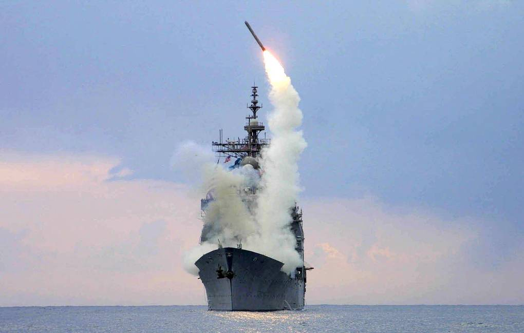 US Navy Tomahawk Land Attack Missile being launched EPA/US NAVY/KENNETH MOLL