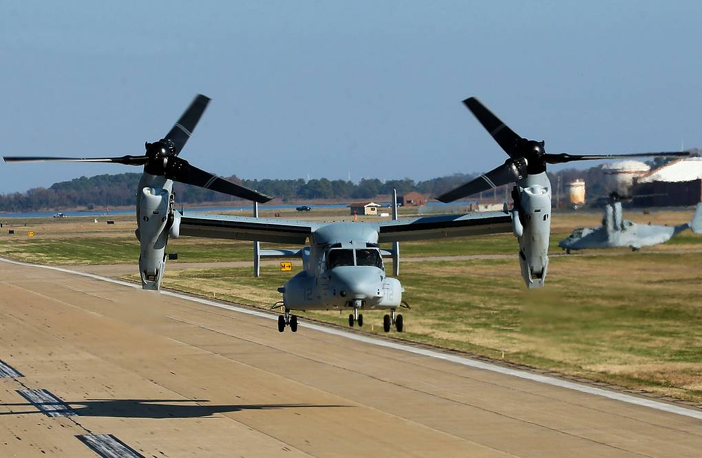Конвертоплан V-22 Osprey Mark Wilson/Getty Images/AP Photo