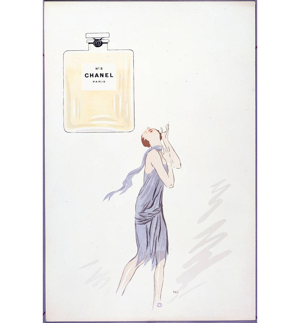 Реклама аромата Chanel №5, 1921 год Musee Carnavalet/Roger Viollet/Getty Images