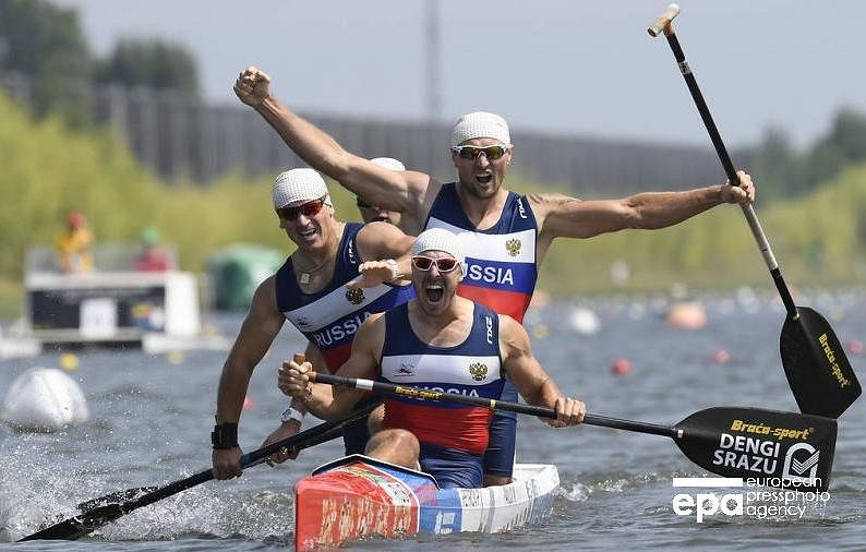 Russian rowers grab gold in C4 500m final at ICF Canoe Sprint World Championships