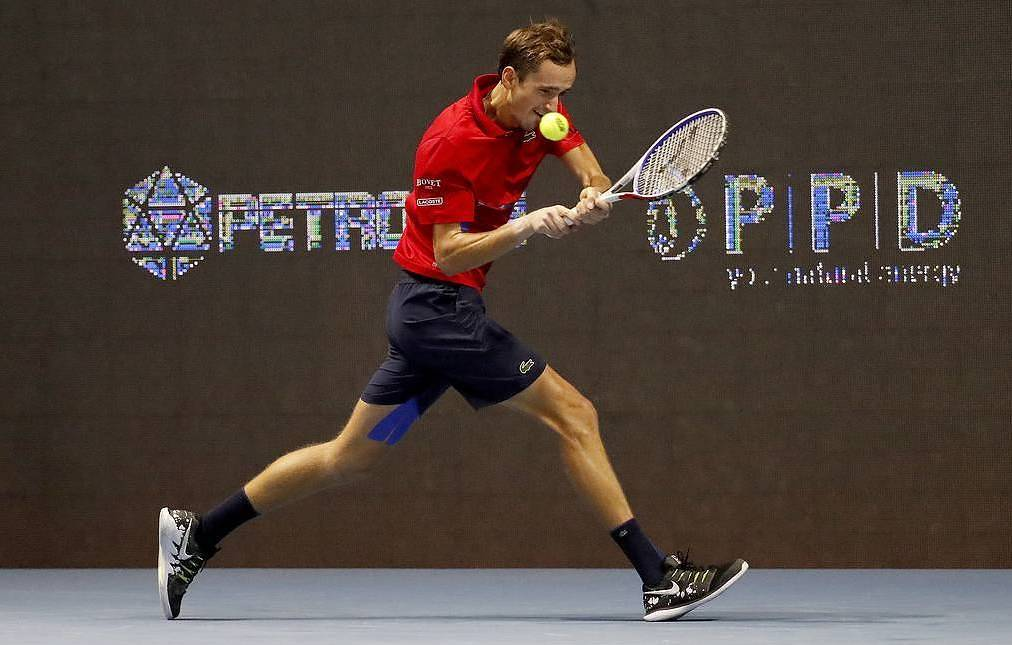Russian tennis player Medvedev happy to reach first career final in Russia