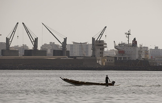 Port Dakar in Senegal