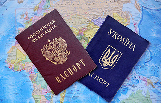 Russian and Ukrainian passports