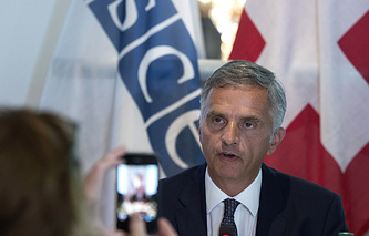 OSCE Chairman-in-Office, Swiss President Didier Burkhalter