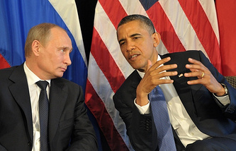 Russian President Vladimir Putin and US President Barack Obama
