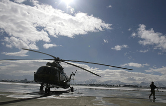 Mi-17 helicopter during an opening ceremony at a military airport in Kabul (archive)