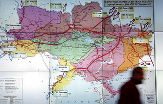A map of Ukraine's gas transportation system (archive)