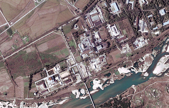 A file satellite handout image from DigitalGlobe dated 29 September 2004 shows the Yongbyon complex nuclear facility