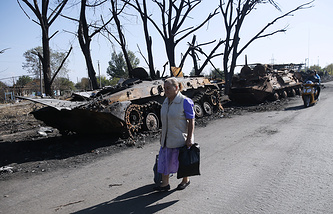 Aftermath the armed conflict in Lugansk region