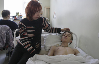 A schoolboy injured in Donetsk school shelling