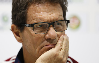 Russia's national football team coach Fabio Capello