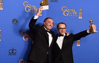 Producer Alexander Rodnyansky, left, and director Andrey Zvyagintsev