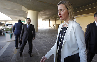 EU High Representative for Foreign Affairs and Security Policy Federica Mogherini