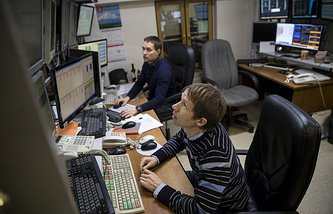 Bank traders in Moscow