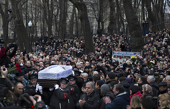 Mouring ceremony for Russian opposition leader Boris Nemtsov