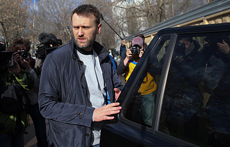 Russian opposition leader Alexey Navalny