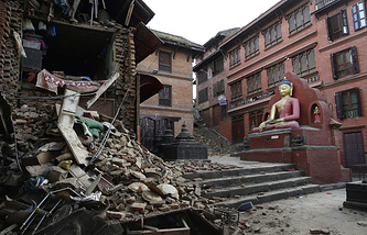 Aftermath of the earthquake in Nepal