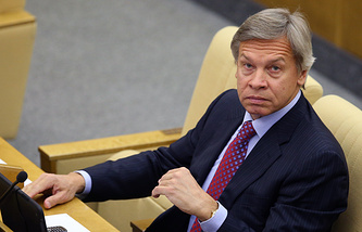 Alexey Pushkov, head of the International Affairs Committee at the Russian parliament's lower chamber
