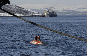 Rescue exercise by Russia's Northern Fleet in the Barents Sea (archive)
