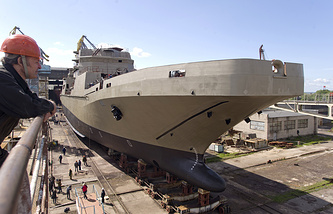 The new vessel will many times surpass in displacement the Ivan Gren (photo) and Pyotr Morgunov large landing ships