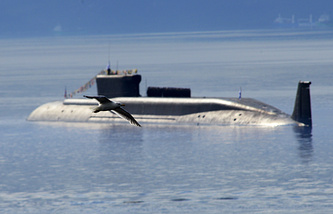 Borei class nuclear-powered ballistic missile submarine