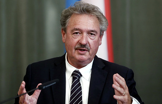Luxembourg's Foreign Minister Jean Asselbourn