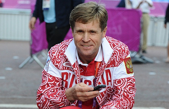 Russia's chief race-walking coach Viktor Chegin
