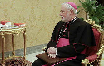 Vatican's Secretary for Relations with States English Archbishop Paul Richard Gallagher