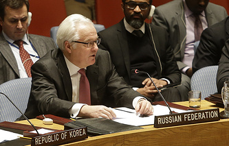 Vitaly Churkin, the Russian ambassador to the UN