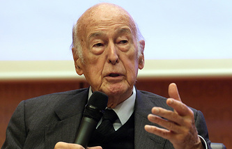 Former French President Valery Giscard d'Estaing
