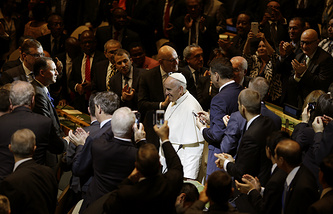 Pope Francis in the United Nations headquarters