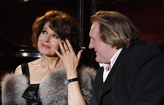 Fanny Ardant and Gerard Depardieu