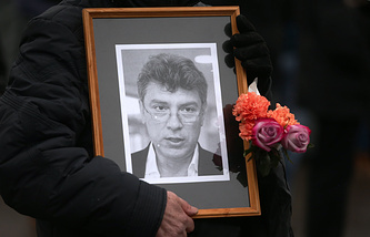 A portrait of politician Boris Nemtsov