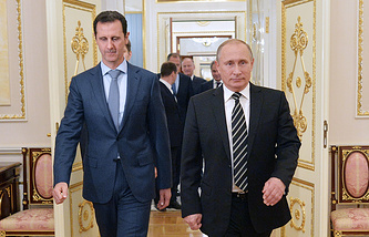 Presidents of Syria and Russia, Bashar Assad and Vladimir Putin