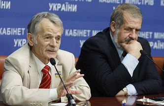Mejilis leaders Mustafa Dzhemilev and Refat Chubarov