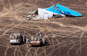 Crash site of A321 plane in Egypt