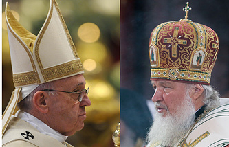 Pope Francis and Patriarch Kirill
