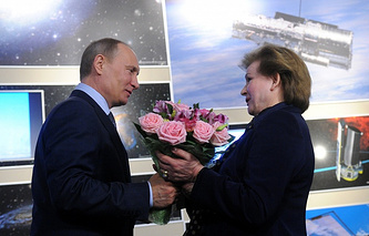 Vladimir Putin and Valentina Tereshkova