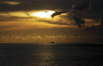 A Chinese navy frigate near the disputed Paracel Islands in the South China Sea (archive)