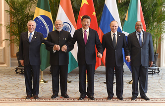 BRICS leaders in Hangzhou, China