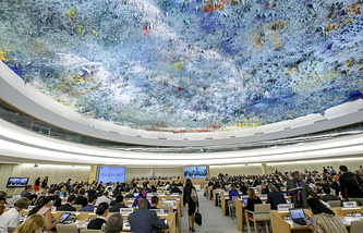 Opening of the 33rd session of the Human Rights Council in Geneva, Switzerland