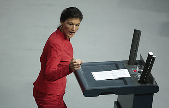 Sahra Wagenknecht of Germany's Left Party