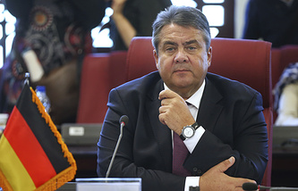 German Vice-Chancellor and Economy Minister Sigmar Gabriel