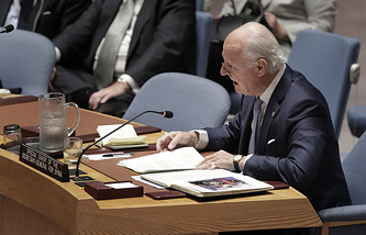 United Nations Special Envoy for Syria Staffan de Mistura