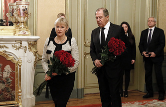 Swedish and Russian foreign ministers, Margot Wallstrom and Sergey Lavrov