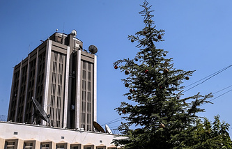 The Russian embassy in Damascus