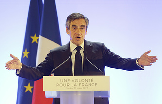 French conservative presidential candidate Francois Fillon