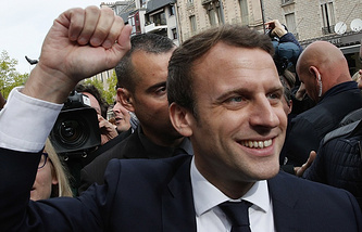 The new President of France Emmanuel Macron