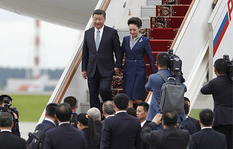 China's President Xi Jinping and his wife Peng Liyuan
