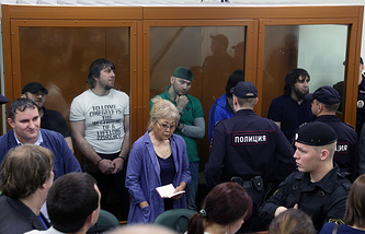 The announcement of the verdict in the Russian politician Boris Nemtsov murder case at the Moscow District Military Court